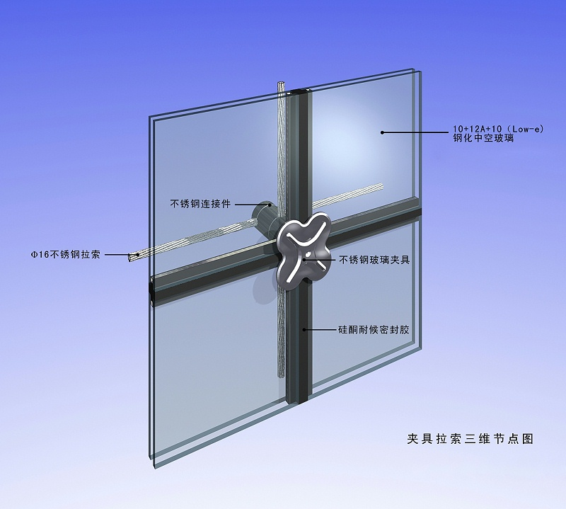 玻璃幕墙节点图