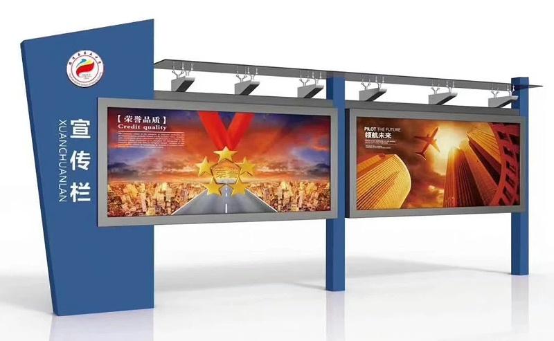 百耀定制案例:浙江湖州校园宣传栏安装完毕