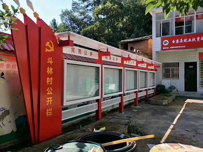 百耀定制案例:安徽六安金寨县村务公开栏