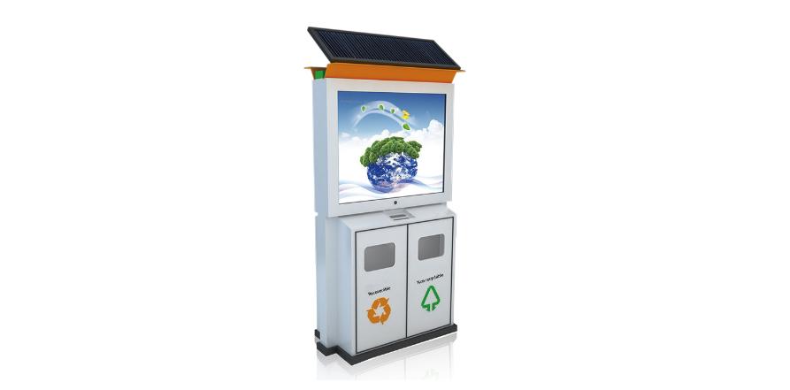 垃圾箱广告灯箱BY-DB002