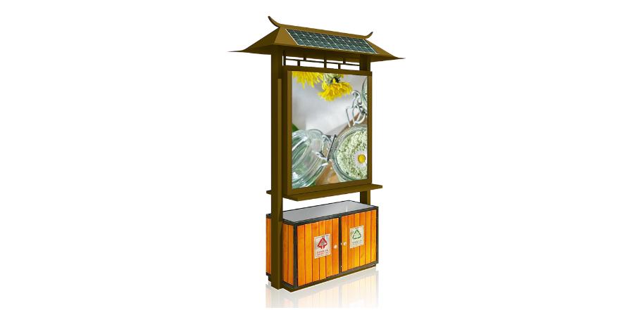 垃圾箱广告灯箱BY-DB005